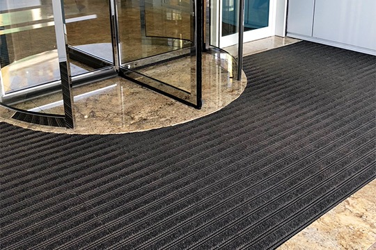 Premier Star Gripper Plus Entrance Matting System installed at Zenith Bank, Accra, Ghana.