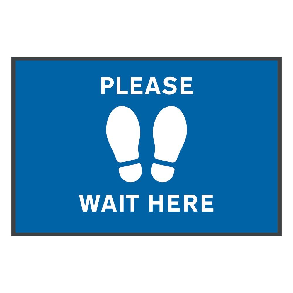 Social Distancing Floor Mats Please Wait Here