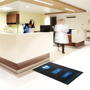 Social Distancing Floor Mats Healthcare