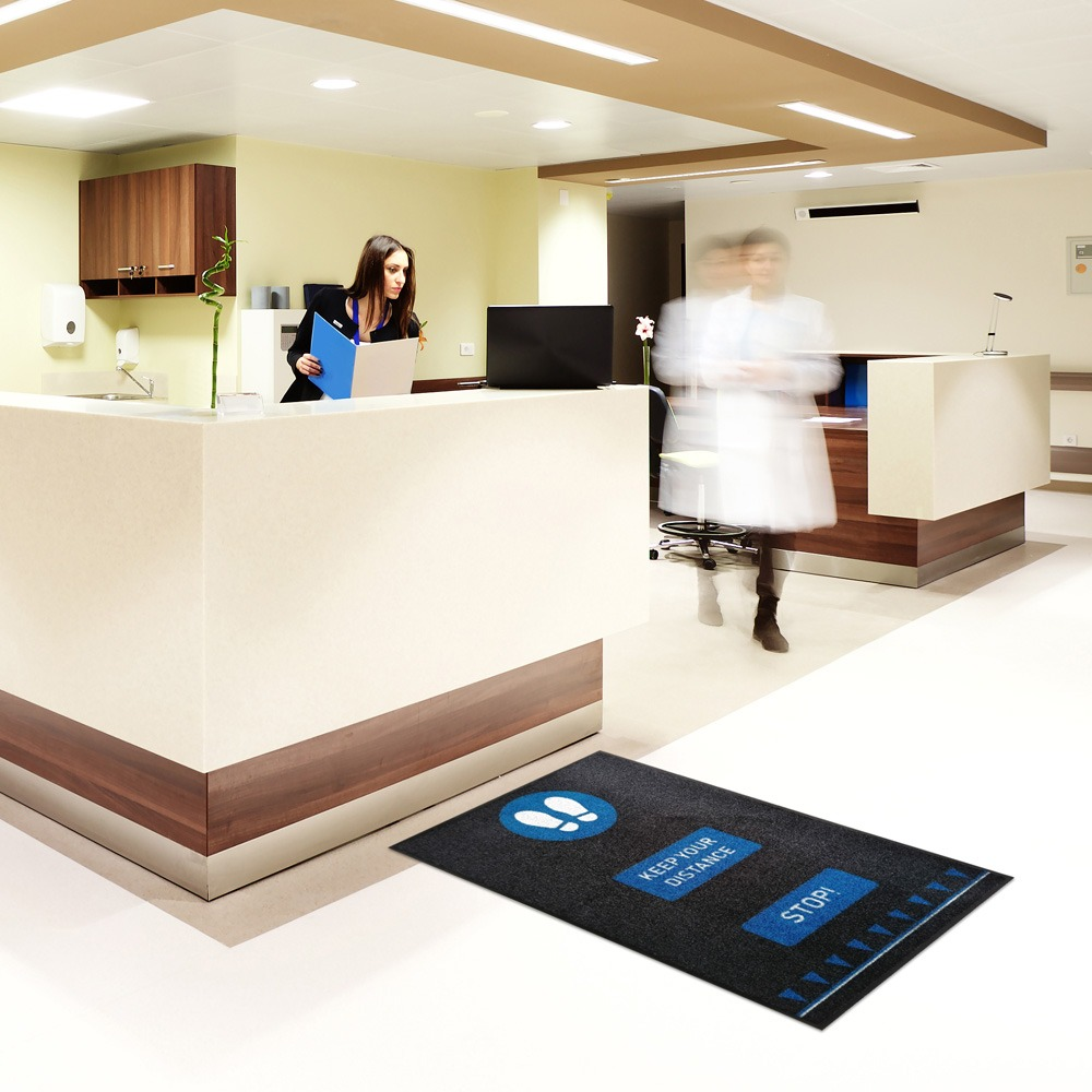 Social Distancing Floor Mats Healthcare