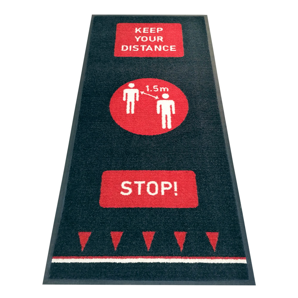 Social Distancing Floor Mats Nitrile Backing