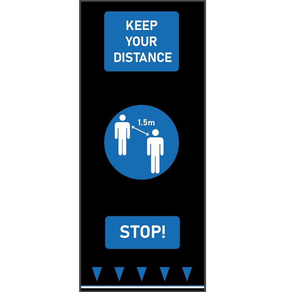 Social Distancing Floor Mats Keep Your Distance Blue