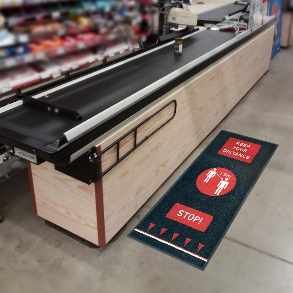 Social Distancing Floor Mats Retail