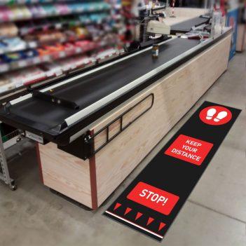 social distancing mats retail supermarket
