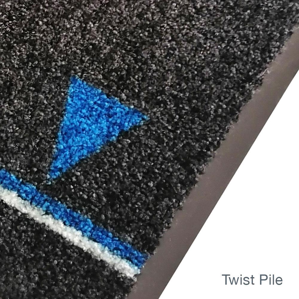 Social Distancing Floor Mats Twist Pile Edged