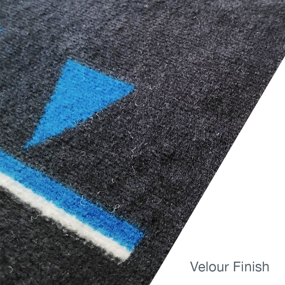 Social Distancing Floor Mats Velour Finish Unedged