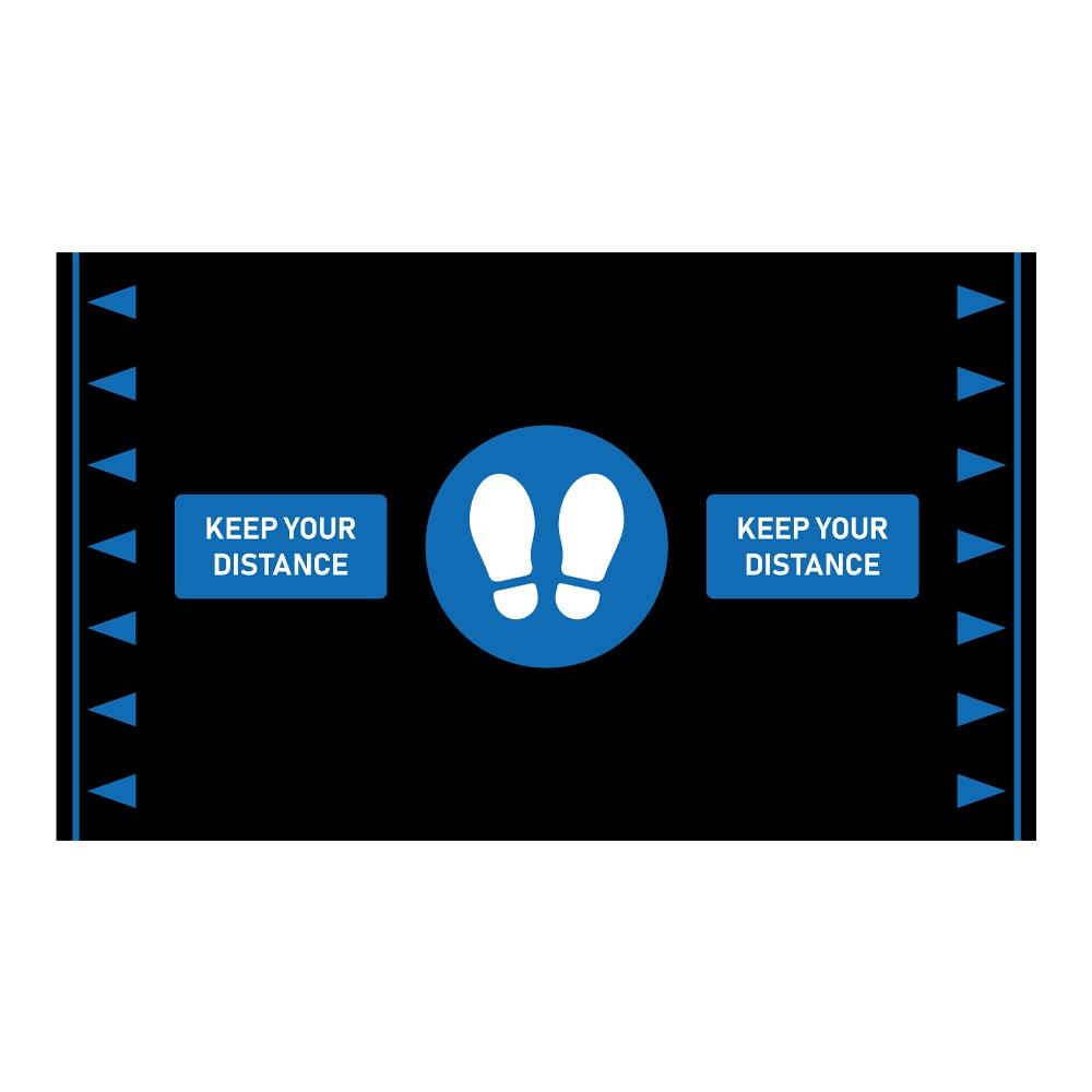 Orthomat® Social Distancing Anti Fatigue Mat Blue/Black