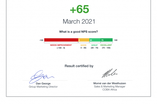 NPS® Certificate SA 2021-1